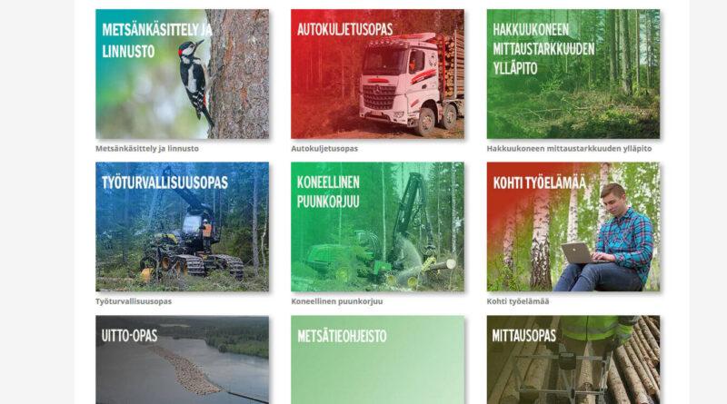 Puuhuolto.fi:ssä metsäalan opetusmateriaaleja – uusimpina työelämätaidot ja työturvallisuus